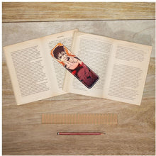 "Load image into Gallery viewer, TCoE - Torrick & Torin - ""smile"" - Leather Bookmarks"
