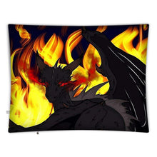 "Load image into Gallery viewer, Dragon Torrick - ""Flame"" - Floor Cushion Covers"