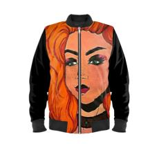 "Cythia - ""Fire"" - Ladies Bomber Jacket"