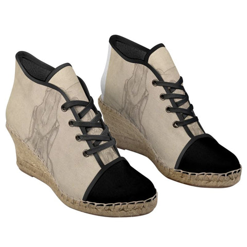Melainie - Shadow of Secrets - Ladies Wedge Espadrilles