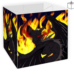 "Dragon Torrick - ""Flame"" - Square Lamp Shade"