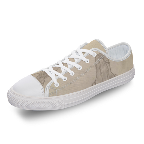 "Melainie - ""Shadow of Secrets"" - [Mirror Effect] Customizable Comfortable Low-Top Canvas Shoes for Men Women"