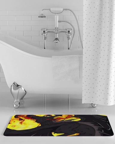 "Dragon Torrick - ""Flame"" -  Bath Mat"