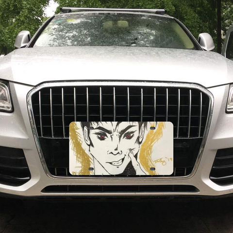 "Torrick - ""smile"" - Metal Aluminum Automotive License Plate Plates Tag for Custom Design Work 12"" x 6"""