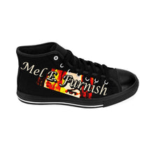 Load image into Gallery viewer, Mel E. Furnish - Crimson Glare Banner - Men's High-top Sneakers