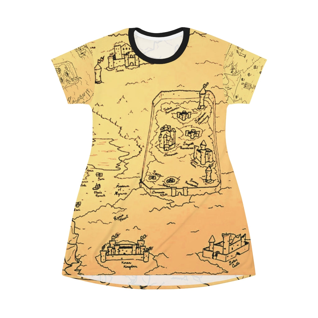 TCoE - Trindavin Map - All Over Print T-Shirt Dress
