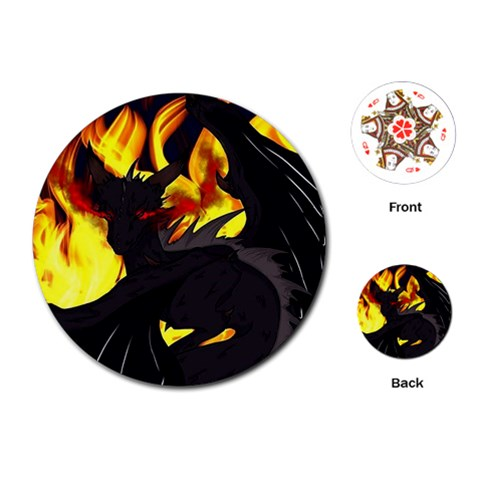 "Dragon Torrick - ""Flame"" - Playing Cards Single Design (Round)"