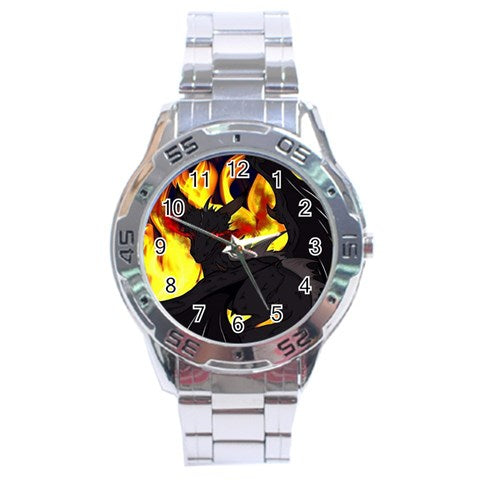 "Dragon Torrick - ""Flame"" - Stainless Steel Analogue Watch"