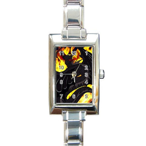 "Dragon Torrick - ""Flame"" - Rectangle Italian Charm Watch"