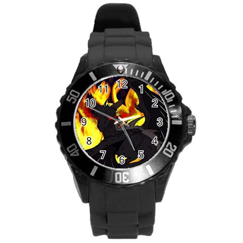 "Dragon Torrick - ""Flame"" - Round Plastic Sport Watch (L)"