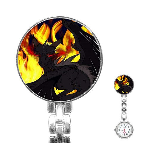 "Dragon Torrick - ""Flame"" - Stainless Steel Nurses Watch"