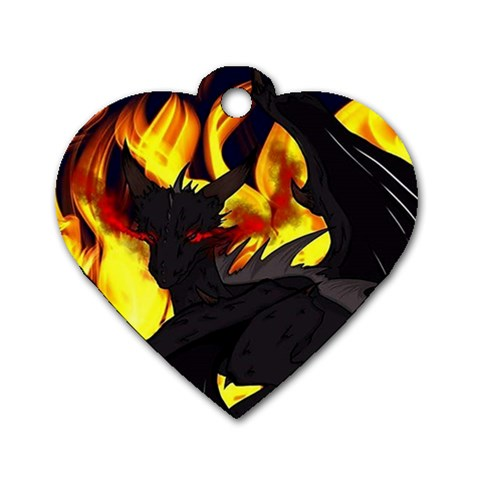 "Dragon Torrick - ""Flame"" - Dog Tag Heart (One Side)"