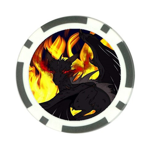 "Dragon Torrick - ""Flame"" - Poker Chip Card Guard (10 pack)"