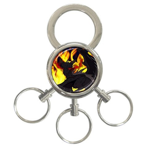"Dragon Torrick - ""Flame"" - 3-Ring Key Chain"