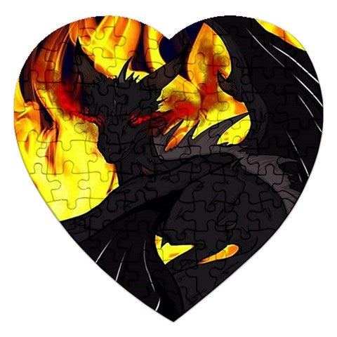 "Dragon Torrick - ""Flame"" - Jigsaw Puzzle (Heart)"