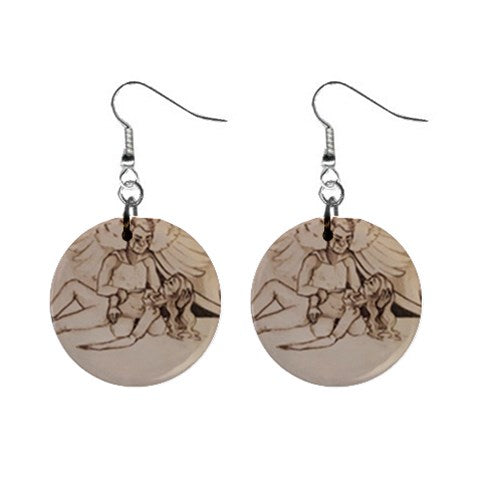 "TCoE - ""Live and Let Die"" - 1"" Button Earrings"