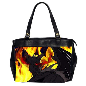 "Dragon Torrick - ""Flame"" - Oversize Office Handbag (2 Sides)"
