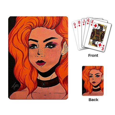 "Cythia - ""Fire"" - Playing Cards Single Design (Rectangle)"