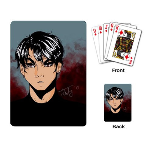 "Torrick - ""brooding boi"" - Playing Cards Single Design (Rectangle)"