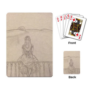 "Melainie - ""Shadow of Secrets"" - Playing Cards Single Design (Rectangle)"