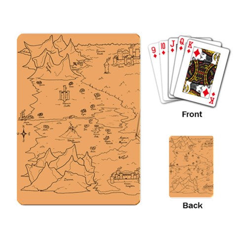 TCoE - Trindavin Map 'parchment' East -  Playing Cards Single Design (Rectangle)