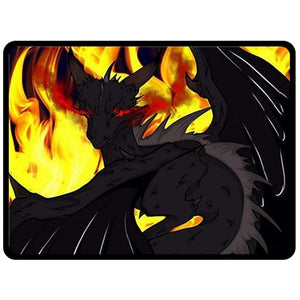 "Dragon Torrick - ""Flame"" - Fleece Blanket (Large)"
