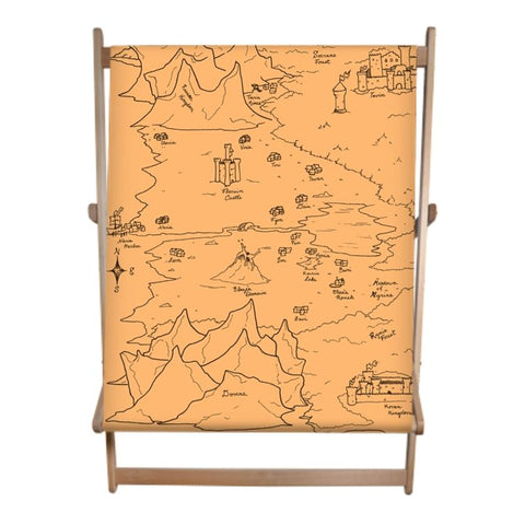 TCoE - Trindavin Map 'parchment' West - Double Deckchair