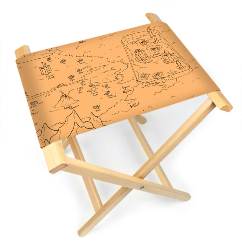 TCoE - Trindavin Map 'parchment' - Folding Stool Chair