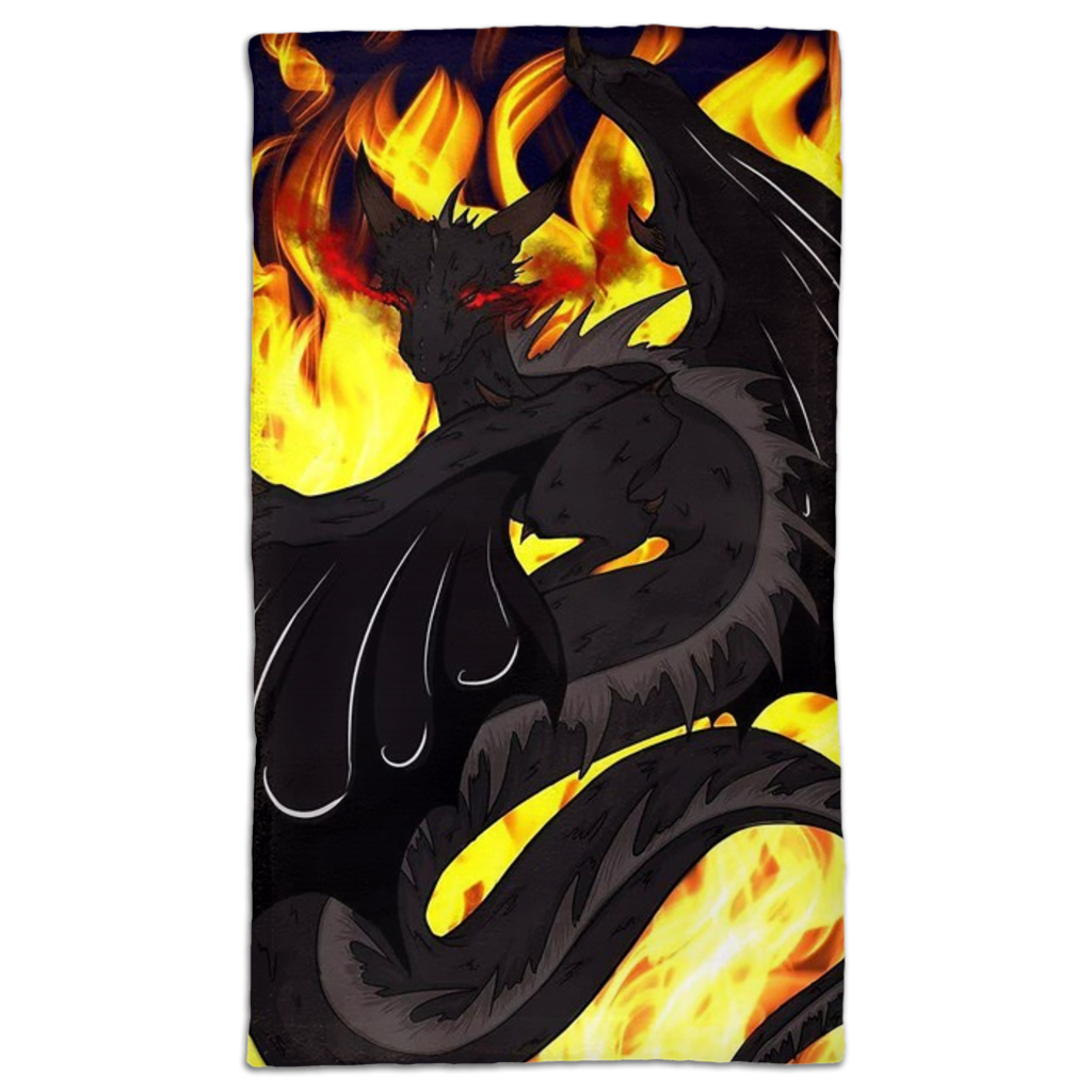 "Dragon Torrick - ""Flame"" - Hand Towels"