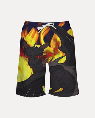 Dragon Torrick - Flame - Boy's Swim Trunk
