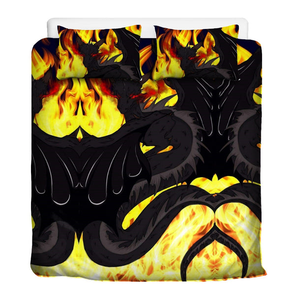 "Dragon Torrick - ""Flame"" - 3 Pcs Beddings (2 pillows, 1 duvet cover)"