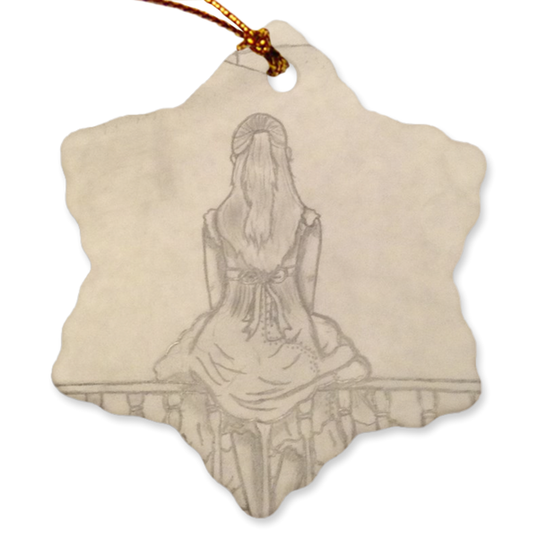 "Melainie - ""Shadow of Secrets"" - Porcelain Ornaments"