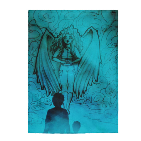 "TSoaGA -""Dark Angel Cythia ~ The Mist"" - Velveteen Plush Blanket"