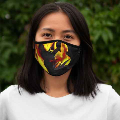 "Dragon Torrick - ""Flame"" - Fitted Polyester Face Mask"