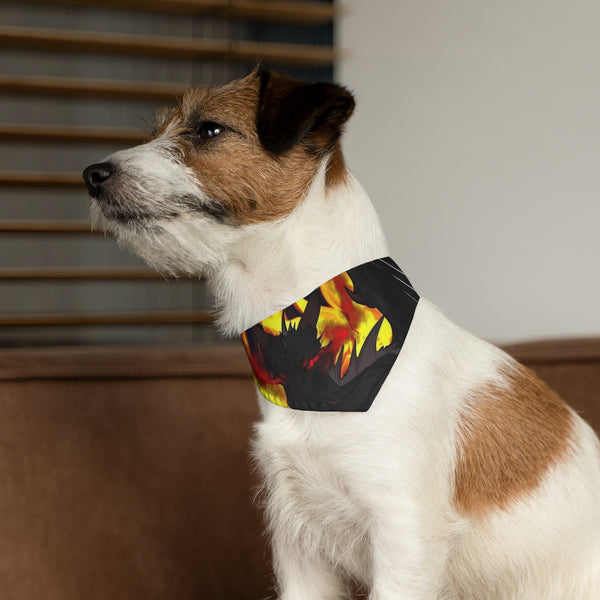 "Dragon Torrick - ""Flame"" - Pet Bandana Collar"