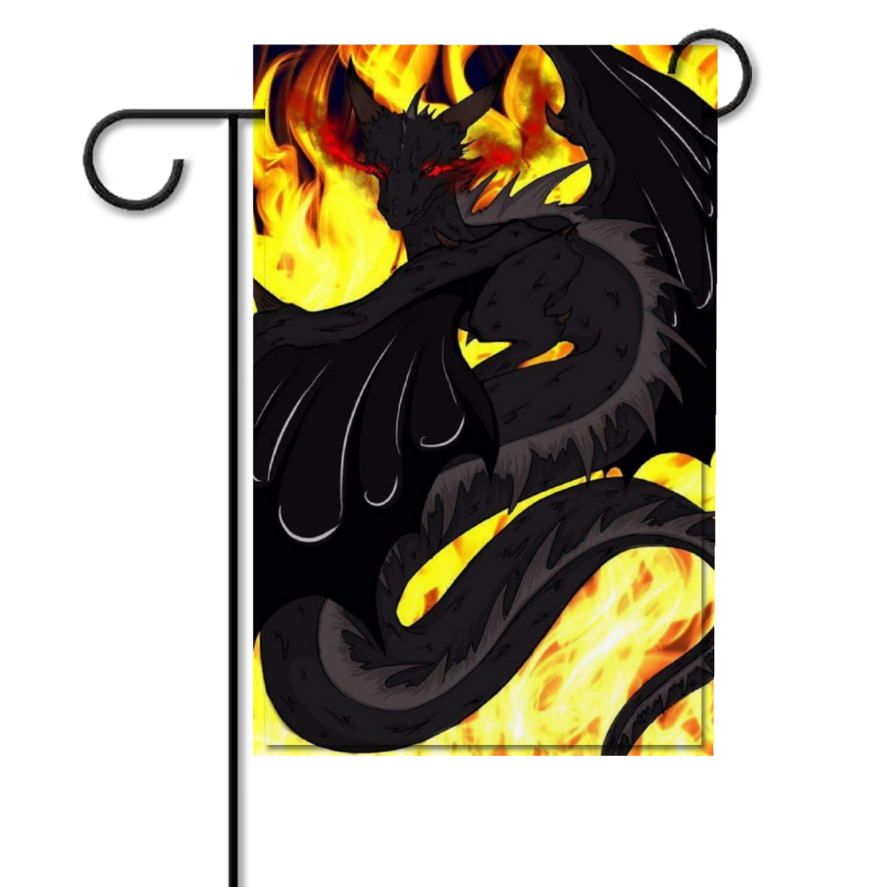 "Dragon Torrick - ""Flame"" - Customizable Double Side Garden Flag 12"" x 18"""