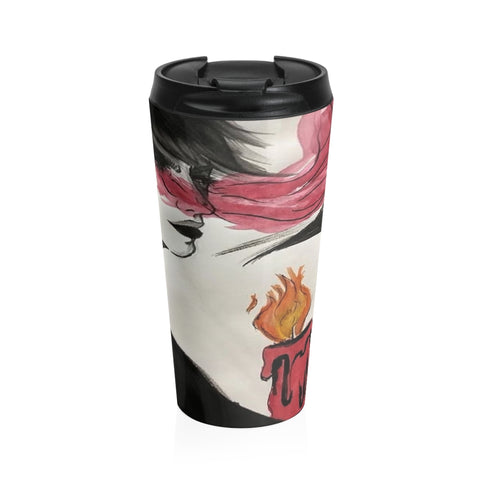 "Torrick - ""wishful thinking"" - Stainless Steel Travel Mug"