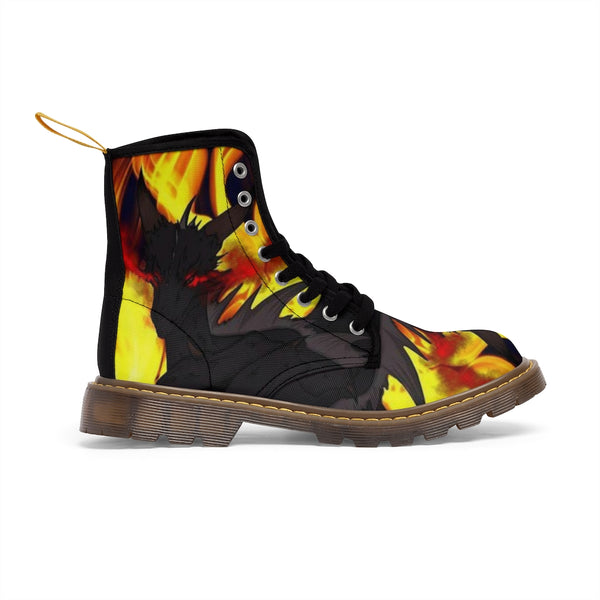 "Dragon Torrick - ""Flame"" - Men's Canvas Boots"