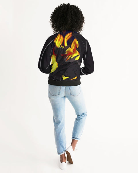 "Dragon Torrick - ""Flame"" -  Ladies Bomber Jacket"