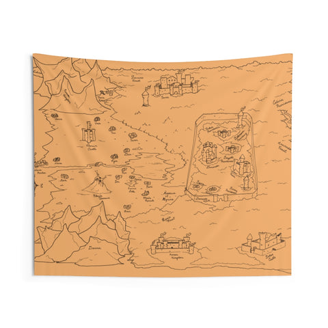 "TCoE - Trindavin Map - ""parchment"" - Indoor Wall Tapestries"
