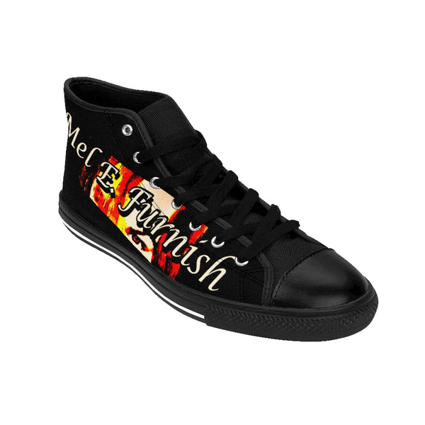 Mel E. Furnish - Crimson Glare Banner - Men's High-top Sneakers