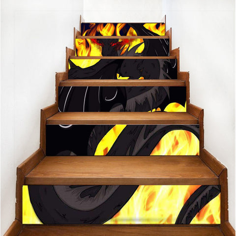 "Dragon Torrick - ""Flame"" - Stair decals"