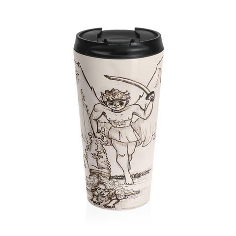 "TSoaGa: Cythia - ""A Dark Angel's Prize"" - Stainless Steel Travel Mug"