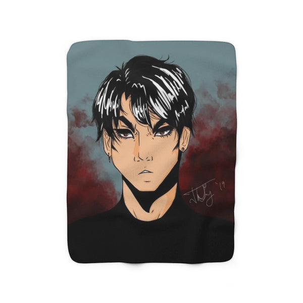 "Torrick - ""brooding boi"" - Sherpa Fleece Blanket"