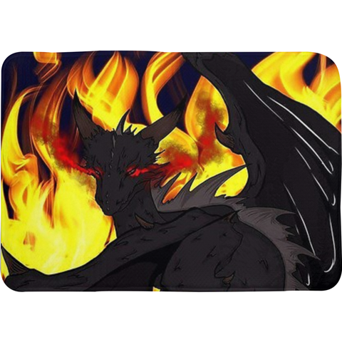 "Dragon Torrick - ""Flame"" - Bath Mats"