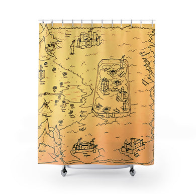 TCoE - Trindavin Map - East - Shower Curtains