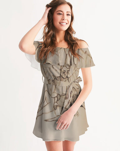 "TCoE - ""Live and Let Die"" - Ladies Off-Shoulder Dress"