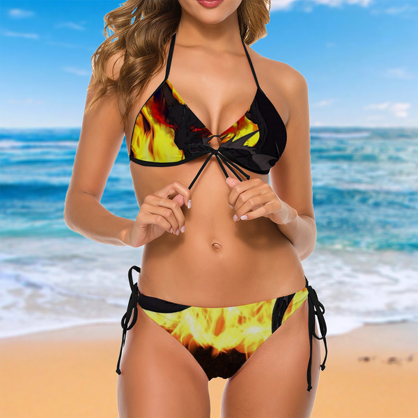 "Dragon Torrick - ""Flame"" - Ladies Bikini Swimsuit Two Piece Bathing Suit BK2059"