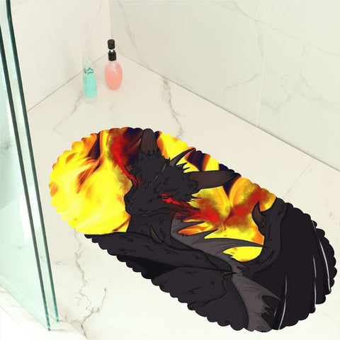 "Dragon Torrick - ""Flame"" - Bathroom Anti-slip Mat"