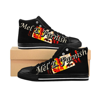 Mel E. Furnish - Crimson Glare Banner - Ladies High-top Sneakers
